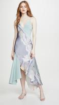 Cushnie V Neck Slip Dress with Asymmetrical Style Lines