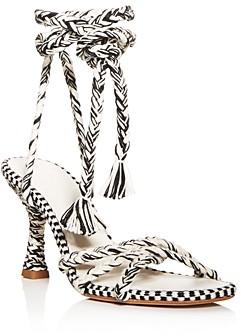 Antolina Women's Eunice Woven Ankle-Tie High-Heel Sandals