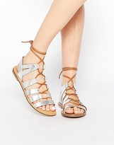Park Lane Gladiator Leather Flat Sandals