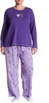 Hue I Heart Cats 3-Piece Pajama Set (Plus Size)