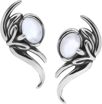 Carolyn Pollack Sterling Gemstone Ear Climber Earrings