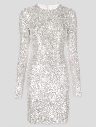 Galvan Glitter Long Sleeve Cocktail Dress