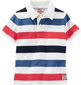 Osh Kosh Boys 4-7x Striped Jersey Polo