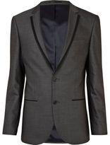 River Island MensGrey contrast slim suit jacket