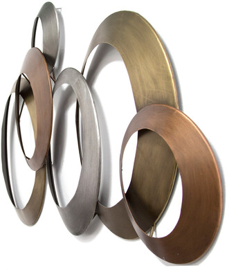 Stratton Home Decor Multi Metallic Rings Wall Decor