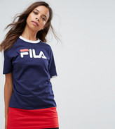 Fila Petite Colour Block Logo Longline T-Shirt