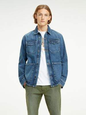 Tommy Hilfiger Recycled Cotton Denim Cargo Jacket