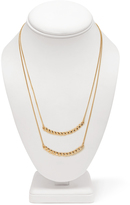 Forever 21 Double Crescent Pendant Necklace