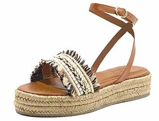 Kaanas Women's Kauai Multi-Color Raffia Flatform Sandal