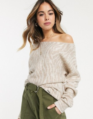 Abercrombie & Fitch knitted relaxed jumper-Multi
