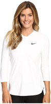 Nike Court Dry 3/4 Sleeve Half-Zip Tennis Top