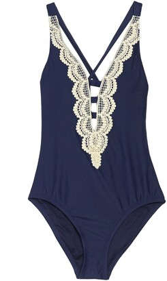 Mossimo Sea Side Embroidered One-Piece Swimsuit