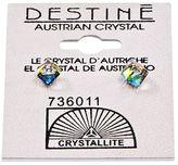 Crystallite Destine Vitrail Medium Cube Earrings 4mm