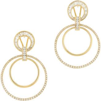 Shay Jewelry Mixed Diamond Doorknockers Earring