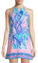 Lilly Pulitzer Pearl Halter Printed Romper