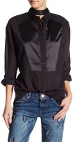 One Teaspoon Long Sleeve Button Up Blouse
