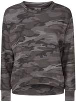 Sundry Camouflage Print Sweater
