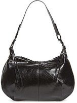 Hobo Lennox Leather Shoulder Bag - Black