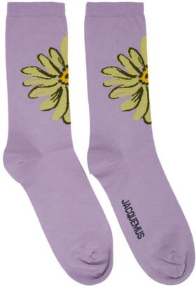 Jacquemus Purple Les Chaussettes Fleurs Socks