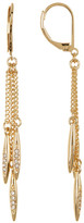 BCBGeneration Crystal Detail Triple Strand Drop Earrings