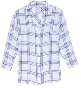 Rails White Sydney Raspberry Azure Shirt - xsmall - White/Blue/Pink