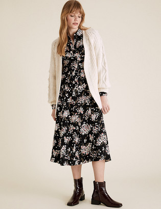 Marks and Spencer Floral Midi Shirt Dress