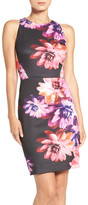 Vince Camuto Floral Scuba Bodycon Dress