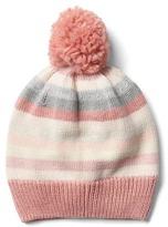 Gap Crazy stripe pom-pom hat