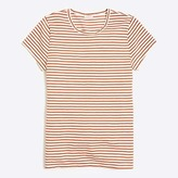 J.Crew Metallic striped studio T-shirt