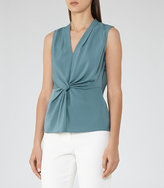 Reiss New Collection Farah Twist-Front Top