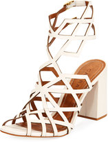 Carrano Alda Leather Cage Sandal