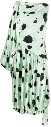 J.W.Anderson Dot Print Asymmetric Dress
