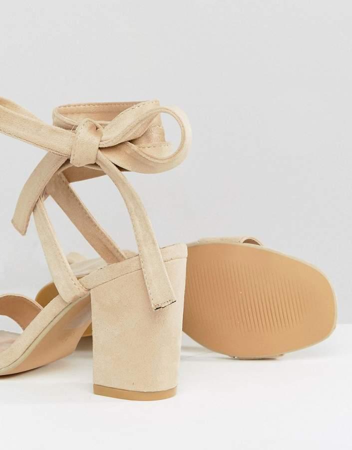 Park Lane Tie Ankle Block Heel Sandals