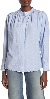 Joie Abidan Collared Button Front Dobby Shirt