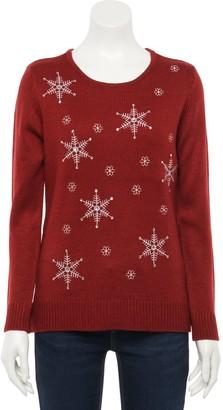 Croft & Barrow Women's Holiday Crewneck Sweater