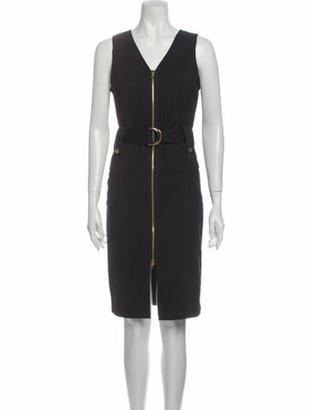 Derek Lam V-Neck Knee-Length Dress w/ Tags Blue
