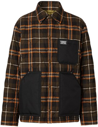 Burberry Quilted Check Shirt Jacket