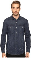 7 For All Mankind Destroyed Denim Trucker Shirt