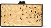 Edie Parker Jean Embossed Metal And Glittered Acrylic Box Clutch - Gold