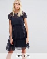 Needle & Thread Chiffon Lace Dress