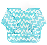 Bumkins Blue Chevron Sleeved Bib