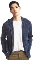 Gap Heathered zip sweater hoodie