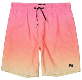 Billabong Kids All Day Fade Layback Swim Shorts (Big Kids) (Neon Orange) Boy's Swimwear
