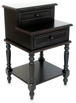 Bed Bath & Beyond Small Lamp Desk/End Table with Two Drawers in Antique Black