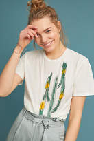 Burning Torch Painterly Cactus Graphic Tee