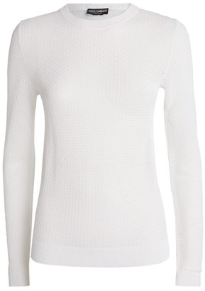 Dolce & Gabbana All-Over Lace Sweater