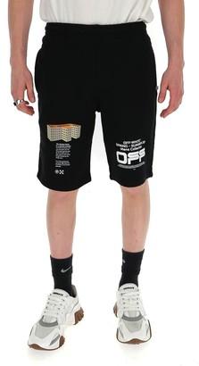 Off-White Printed Bermuda Shorts