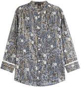 Marc Jacobs Cotton-Silk Printed Blouse