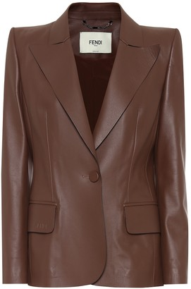 Fendi Leather blazer