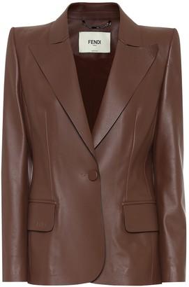 Fendi Leather blazer